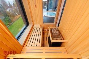 Klassische Sauna platzsparend mit Ofen