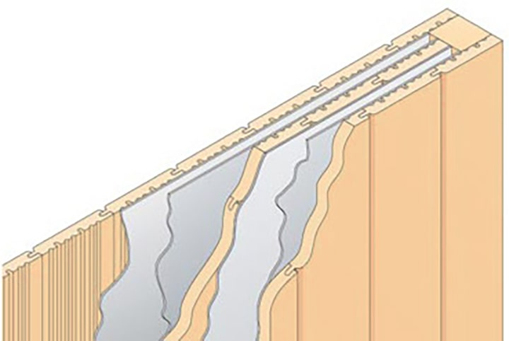 Querschnitt der Isoholz-Isolierung