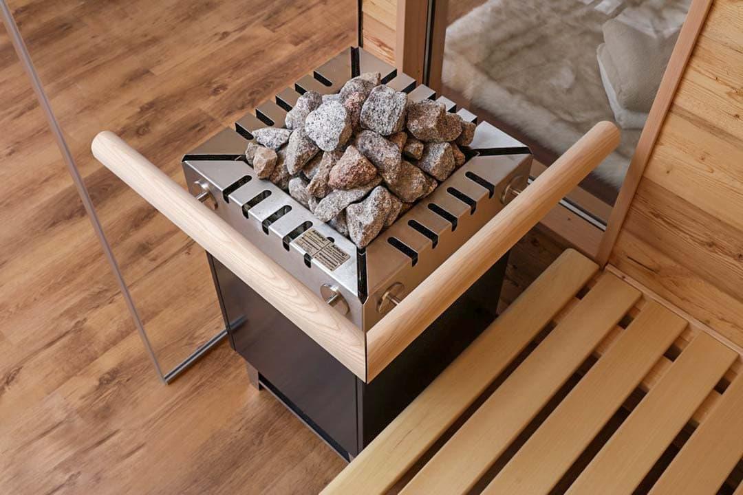Saunaofen für den Aufguss